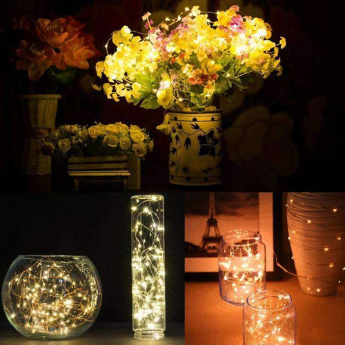AMZER Fairy String Light 20 LED Waterproof Button Battery Operated