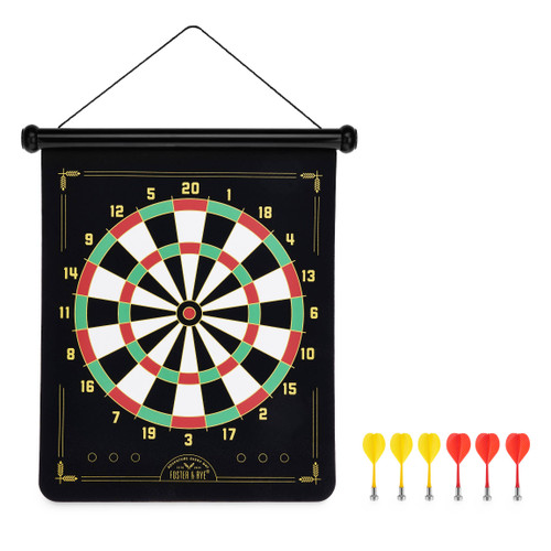 Traditional & Bullseye Magnetic Dart Board (Game Included)