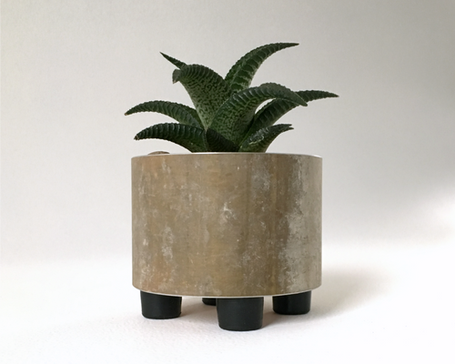 Beautiful Mini Succulent Planter in Recycled Rustic Metal