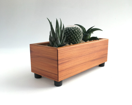 Modern Reclaimed Wood Succulent Planter