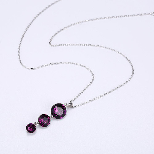 Sterling Silver Necklace with Swarovski Crystals For Women