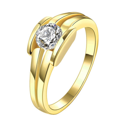 18K Gold Plated Nathalie Ring made with Swarovski Crystals For women