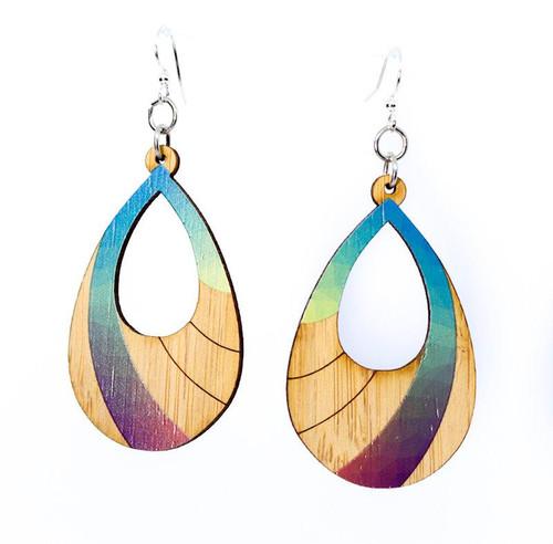 "1.2"" x 1.9"" Eco-Fashion Prism Bamboo Earrings"