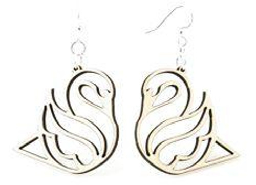 "1.4"" x 1.4"" Designed And Beautiful Swan Earrings"