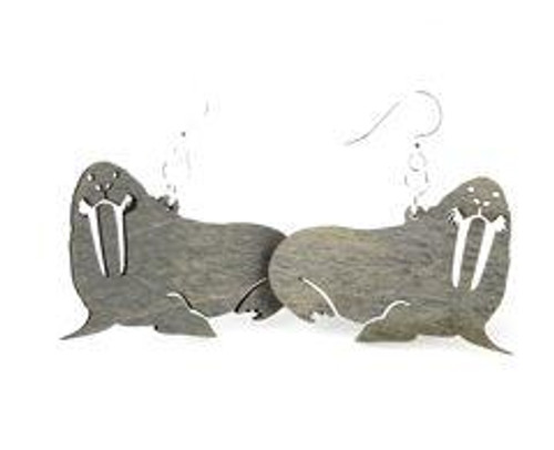 "1.1"" x 1.7"" Designed Funny Walrus Earrings"