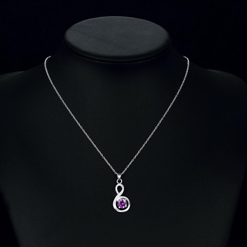 Bergerac Necklace in 18K White Gold Plated made with Swarovski