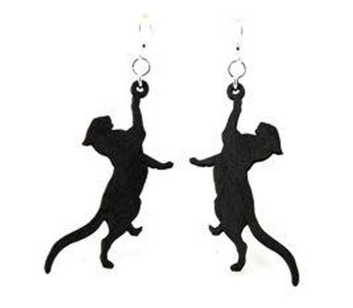 "2.4"" x 1"" Lightweight Funny Playful Cat Earrings"