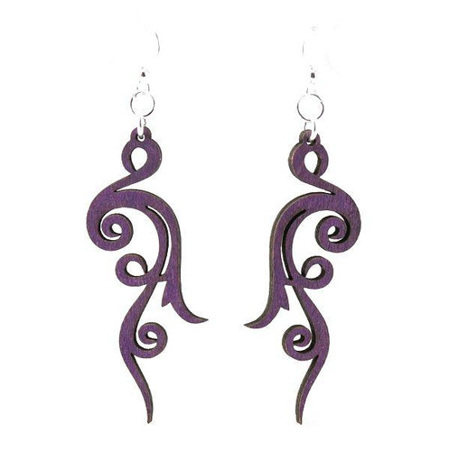 "2.3"" x .9"" Eco-Friendly Designed Small Scroll Earrings"