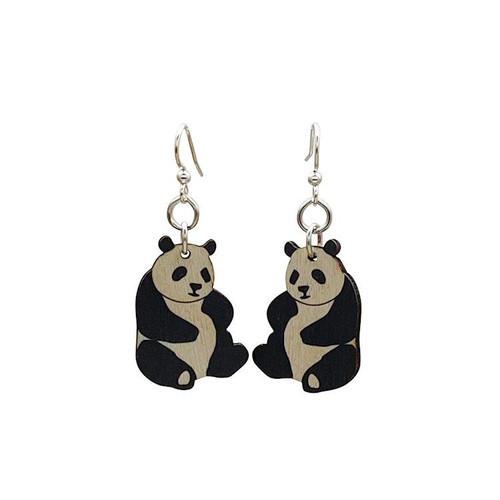 "1"" x 0.8"" Lightweight Small Funny Panda Earrings"