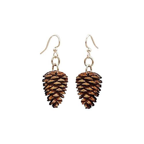 "0.8"" x 1.1"" Beautiful Lightweight Pine Cone Earrings"