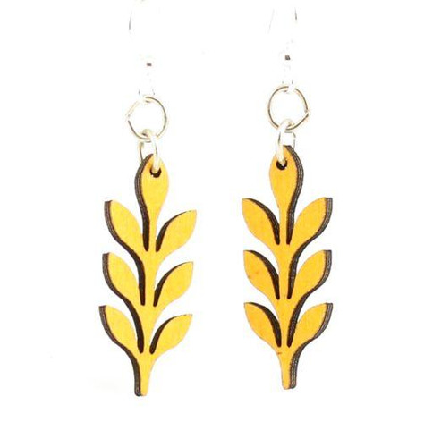 "0.5"" X 1.2"" Designed Yellow Pop up in Rows Blossoms Earrings"