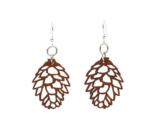 "0.8"" x 1.1"" Designed Lightweight Pine Cone Earrings"