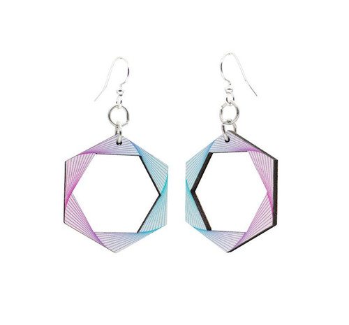 1.0 x 1.8 Designed & Beautiful Star Gate Earrings