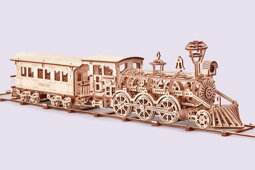 Wood Trick Eco friendly plywood 3D Wooden Locomotive R17