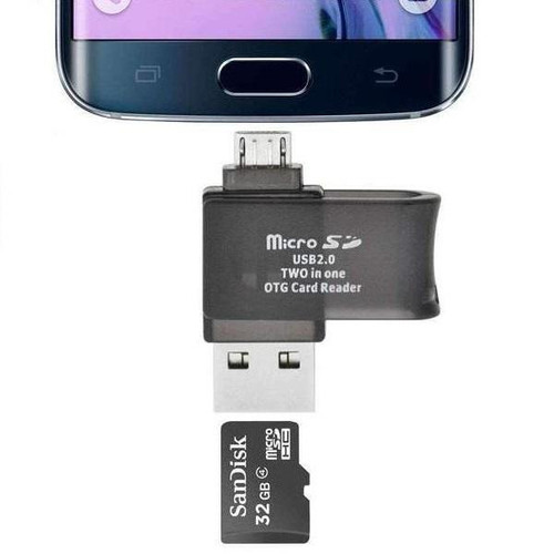 Mini size OTG Adapter and card reader 2 in 1