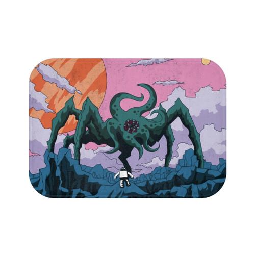 "24"" x 17"" Alien Space Creature Bath Mat"