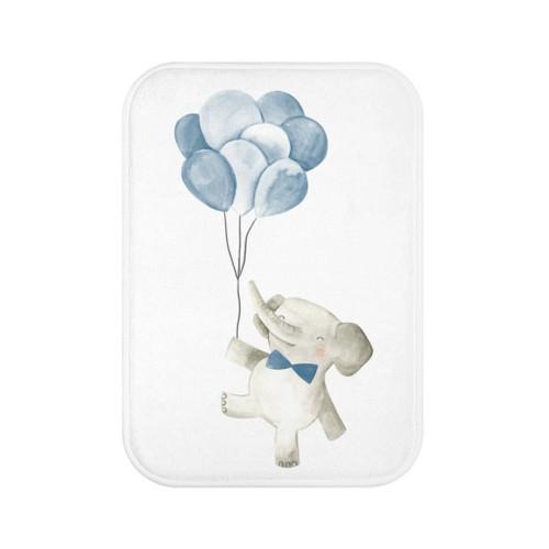 "24"" x 17"" Baby Elephant Holding Balloons Mat"