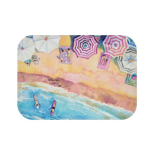 "24"" x 17"" Colorful Day at the Beach Bath Mat"