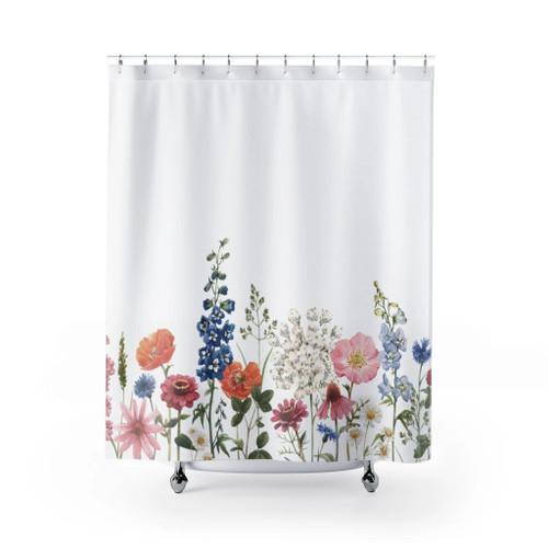 100% Polyester Spring Floral Garden Shower Curtains