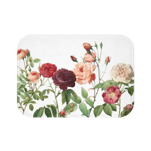 "24"" x 17"" Multicolor Rose Garden Bath Mat"