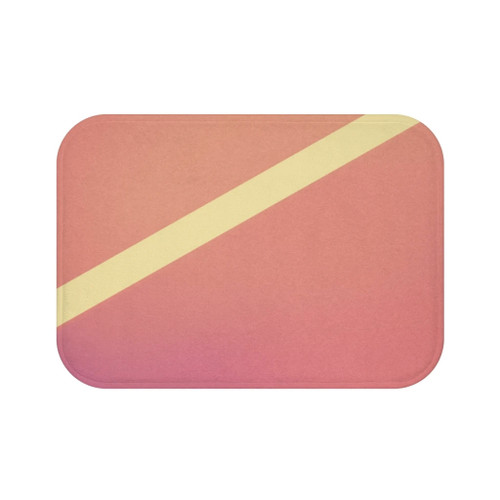 "24"" x 17"" Anti-slip backing Pink Gradient Abstract Bath Mat"