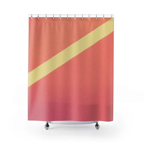 100% Polyester Pink Gradient Abstract Shower Curtains