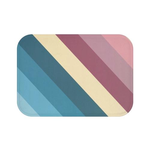 100% Microfiber & Anti-slip backing Striped Bath Mat