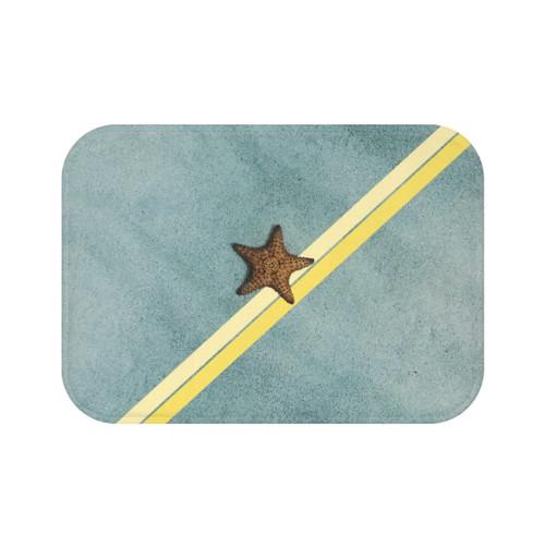 "24"" x 17"" Starfish on the Beach Abstract Bath Mat"