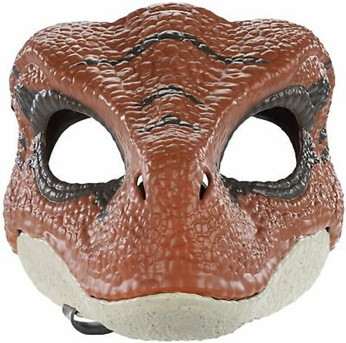 JURASSIC WORLD Movie-Inspired Velociraptor Mask with Opening Jaw, Realistic T...