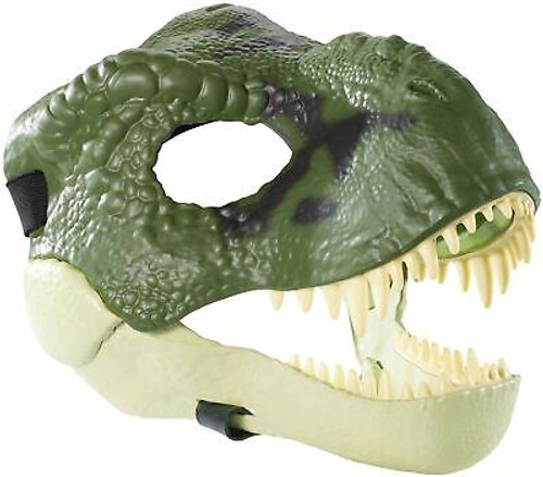 Jurassic World Movie-inspired Dinosaur Mask with Opening Jaw, Realistic Textu...