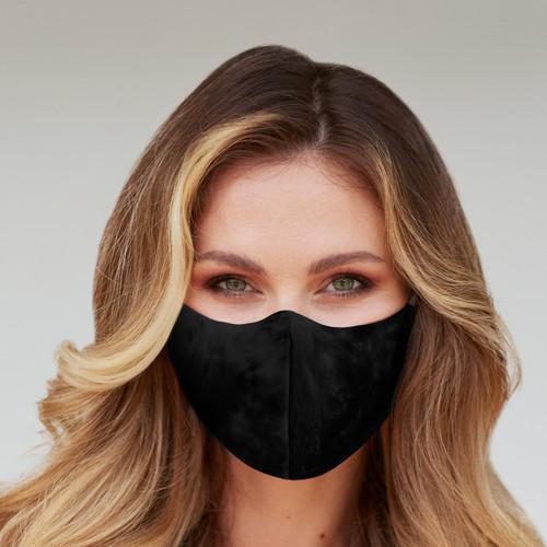 Unique 3 Layers Solid Black Face Mask