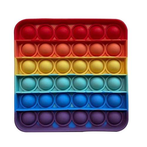 Colorful Rainbow Soft Bubble Press Fidget Stress Relief Toy
