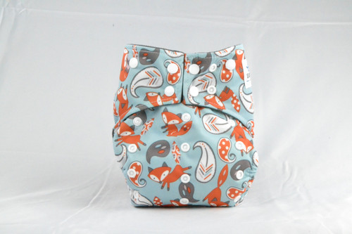 Waterproof outer lining Earthlie Cloth Diaper - Foxes