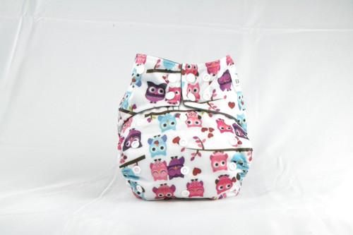 Multicolor & Adjustable snaps Earthlie Cloth Diaper - Owls