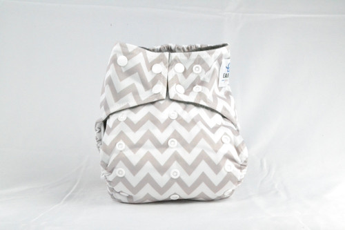 Waterproof outer lining Earthlie Cloth Diaper - Grey Chevron