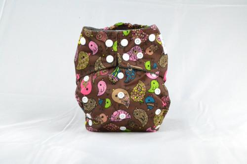 Colorful Adjustable snaps Earthlie Cloth Diaper - Birds