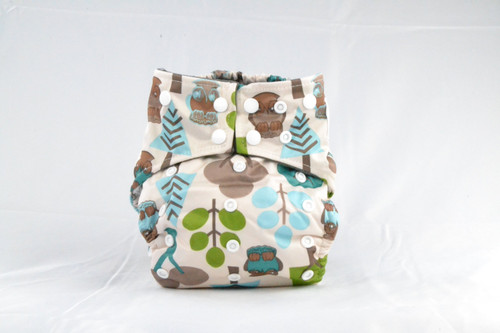 Waterproof outer lining Earthlie Cloth Diaper - Forest