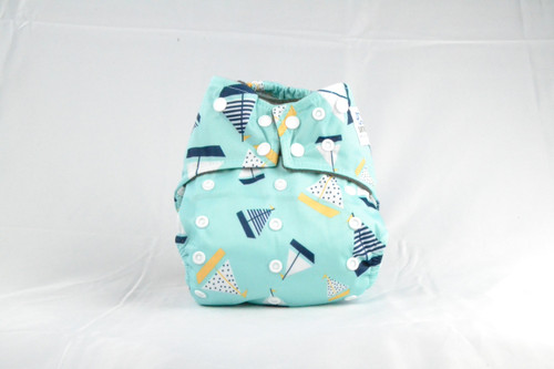 Adjustable snaps Earthlie Cloth Diaper - Boats