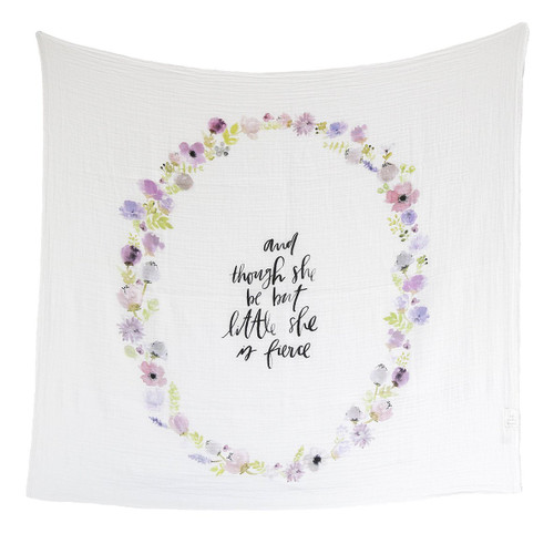 Lavender Blooms - Lightweight and Breathable Organic Swaddle Blanket