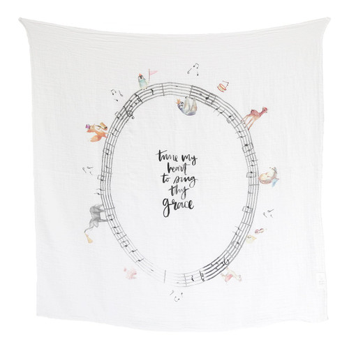 Music Parade - Lightweight and Breathable Organic Swaddle Blanket