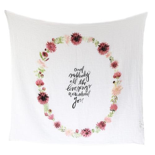 Dahlia Blooms - Organic Swaddle Blanket