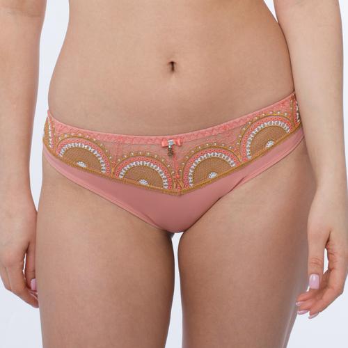 Sheer Mesh Tulle Swiss Embroidery Tanga Panty Lea- Famous Latvian Made