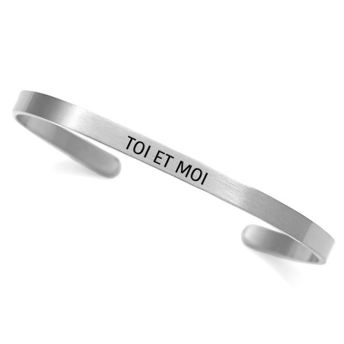 """""""Toi et Moi"""" - """"You And Me"""" Stainless Steel Cuff"""