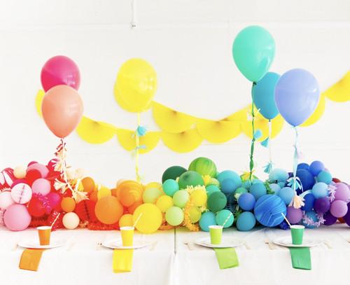 "Oh Happy Day Rainbow Balloon Bundle 11"""