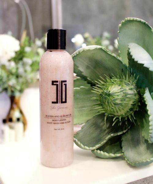 Jojoba and Almond Oil Moisturizer Body Wash and Scrub For Healthy Smooth Skin