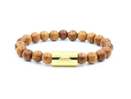 Solid - Light Brown Wood Beads Bracelet