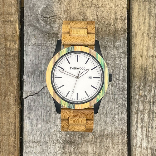 Inverness - Multi Colored Bamboo Strap Watch Limited Edition