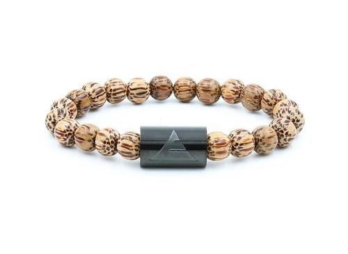 Solid - Coconut Palm Wood Beads Bracelet