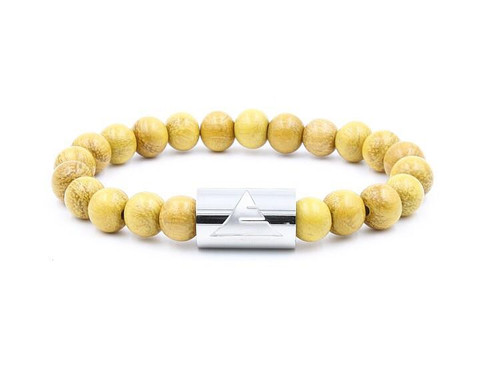 Solid - Yellow Jackfruit Wood Beads Stretchy Bracelet