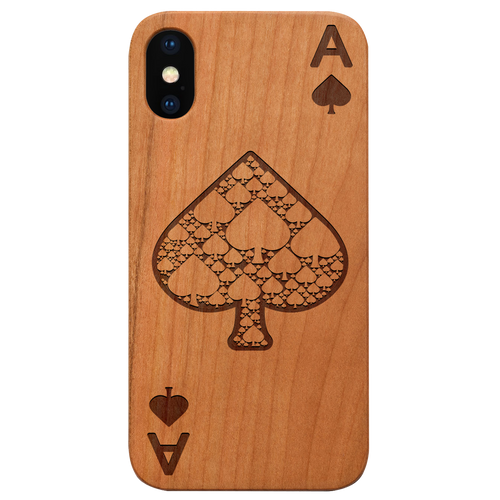 Ace of Spades - Engraved Eco-Friendly Phone case